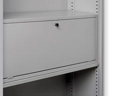lockable shelf door